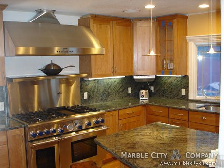 Elegant Ita Green   Granite Countetops   San Francisco