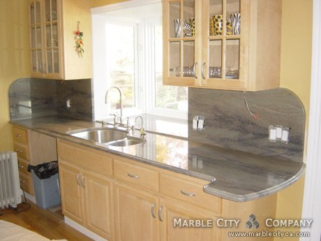 Aqua Verbe Kitchen Countertops Bay Area California At