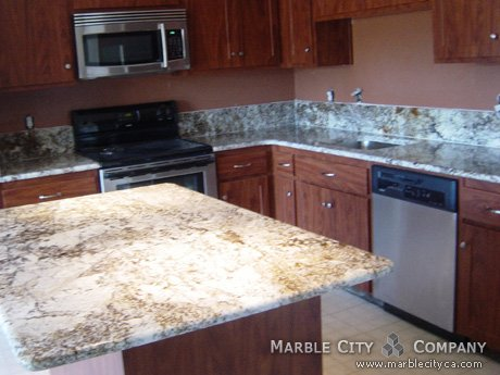 Incroyable Golden Lace   Granite Countertops   Bay Area