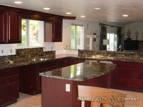 Green Marinace Granite Countertops Bay Area
