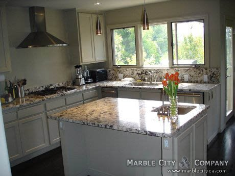 White Argento Granite Countertops Expert Installation