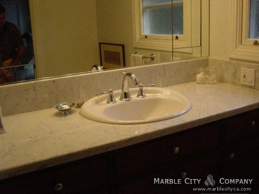 Honed Countertop Materials : Bianco Carrara Honed Marble - Best Marble Countertops California ...