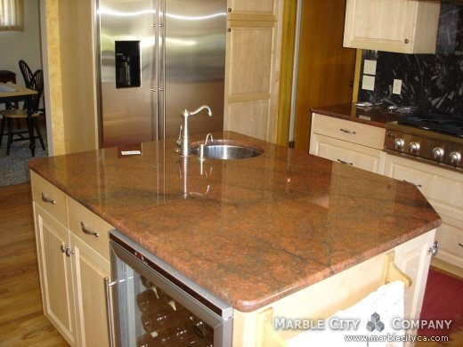 Red Dragon Granite Countertops For Kitchen And Vanity