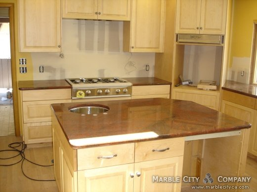 Red Countertop Materials : ... material or see for red dragon kitchen and granite stone red dragon