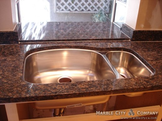Sapphir Brown Sink Countertops Bay Area California Type