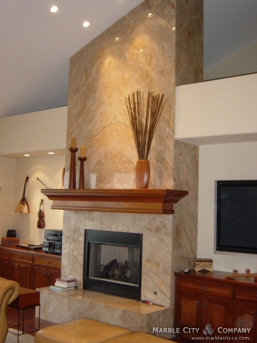 Fireplace mantels san francisco california affordable for Fireplace half stone