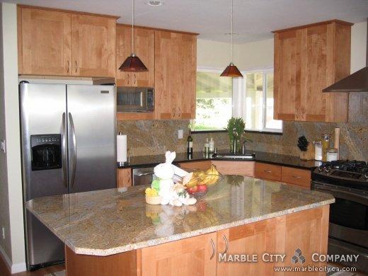 Summer Light Granite Countertops - Expert Installation ... Light Granite Countertops Kitchen