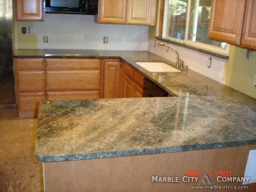 Sea Foam Green   Granite Countertops   San Jose, California