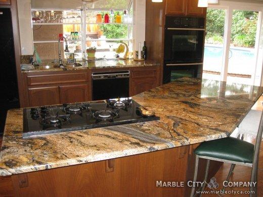 comet granite kitchen - granite countertops san rafael california
