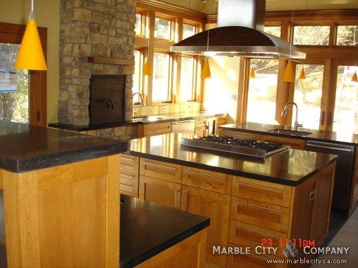 Absolute Black Honed Granite Countertops Bay Area