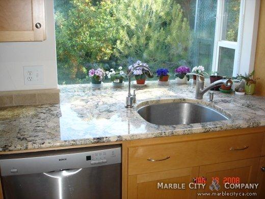 Star Light Peach Granite Countertops Oakland California Color Red