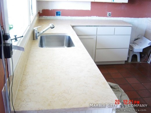 Giallo Atlantide Brashed - Marble Countertops - Bay Area