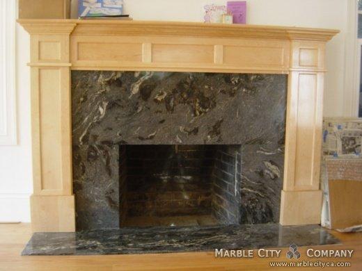Fireplace Mantels San Jose Black Cosmic Granite Fireplaces In California Stone Black Cosmic