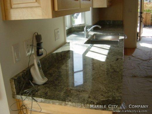 Namib Green Granite Kitchen Countertops Belmont California ...