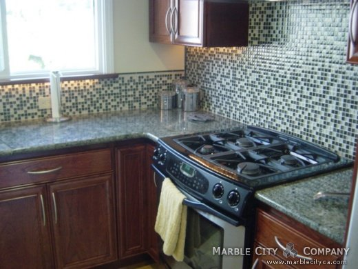 Sea Foam Green Granite Countertops For Kitchen And Vanity