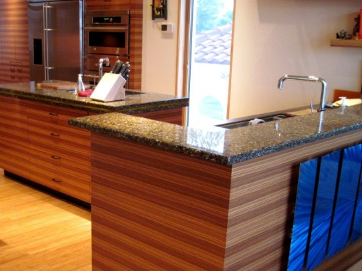 Alehouse Amber with Patina - Recycled GlassCountertops in Bay Area, California
