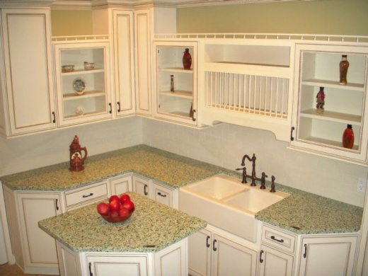 bistro green - vetrazzo counters at marble city ca | color green