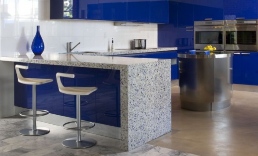 Chivalry Blue - Vetrazzo Countertops - San Francisco