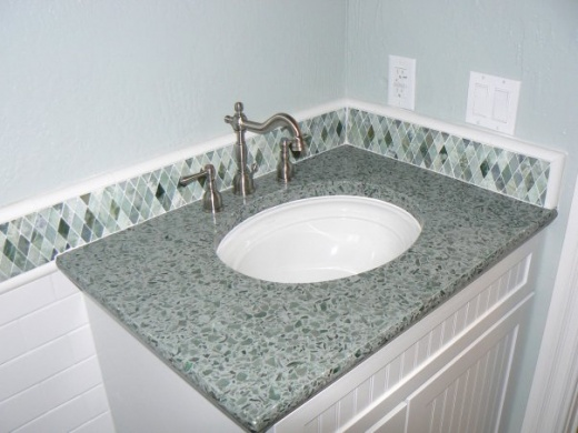 Hollywood Sage Vetrazzo Countertop At Marble City Ca