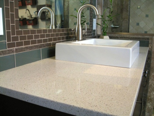 Quartz Countertop - Caesarstone Bay Area at MarbleCity CA | Application Vanity