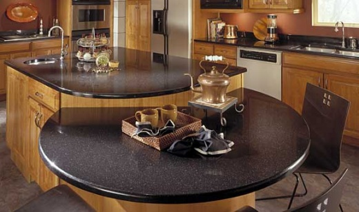 Mystic black zodiaq quartz countertops bay area for Quartz kitchen platform