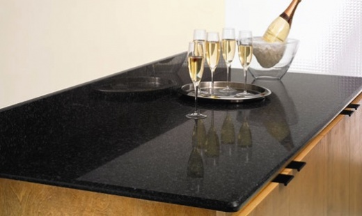 Ebony pearl quartz kitchen countertops california at for Stellar night quartz price