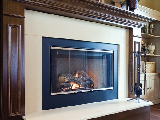Quartz Fireplace Surround