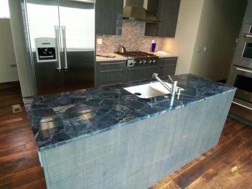 Indigo Blue Kitchen Black Countertop