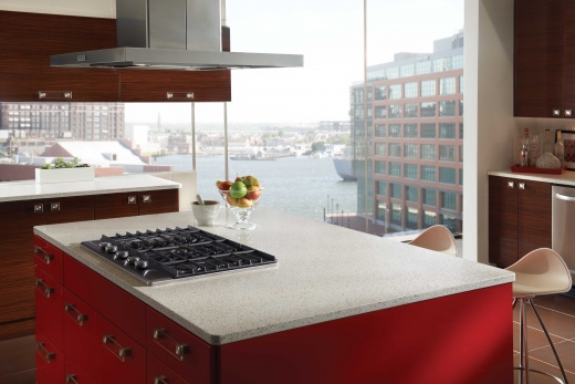 Alpine White Recycled Glass Countertops San Francisco