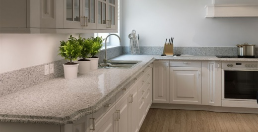 Atlantic Salt Caesarstone Quartz Countertops in San Francisco, California