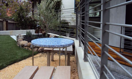 Cobalt Skyy with Patina - Vetrazzo Countertops - San Jose California