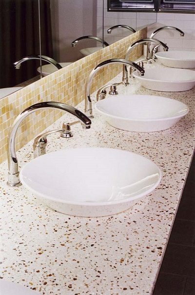 Amber Pearl  - Recycled Glass Countertops in San Francisco, California