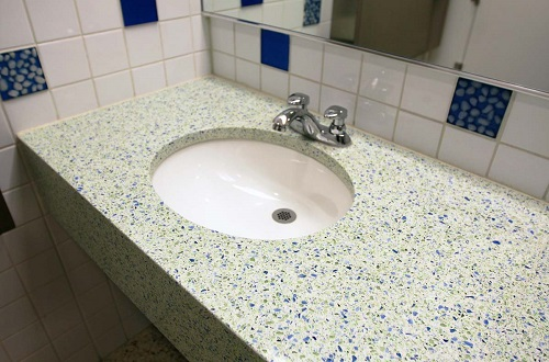 Denim Moss - Recycled Glass Countertops - San Francisco