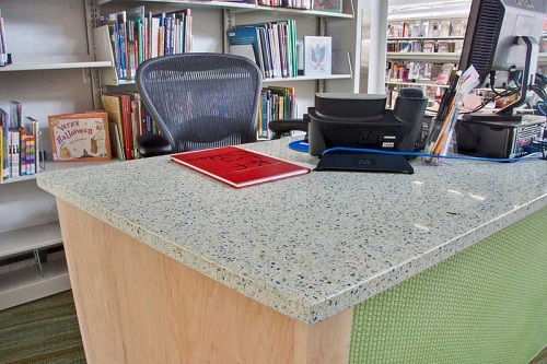 Denim Moss - Recycled Glass Countertops - Bay Area