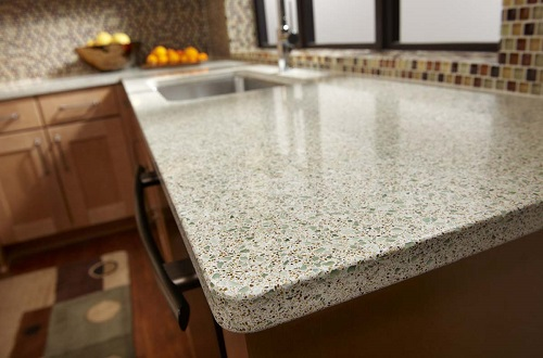 Forest Fern   Recycled Glass Countertops   San Francisco California