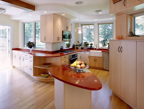Morrocan Red Recycled Glass Countertops San Francisco Fremont Bay Area