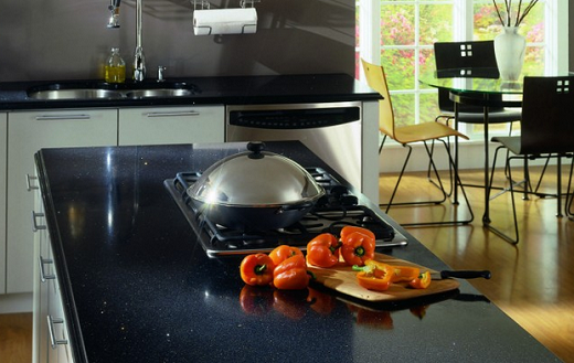Stellar night kitchen countertops expert installation for Stellar night quartz price