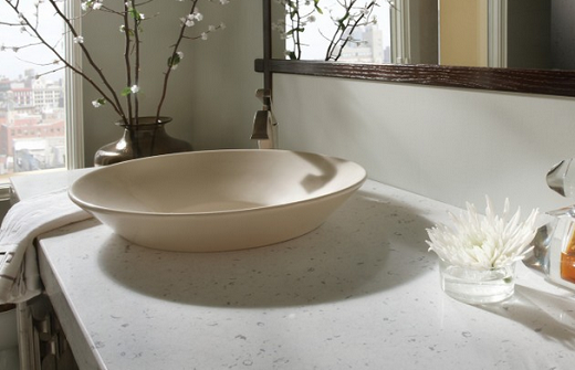 Bianco River - Quartz Countertops in Bay Area California