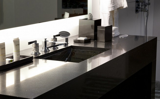 Stellar night vanity countertops expert installation for Stellar night quartz price