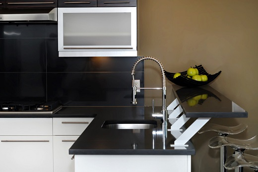 Jet Black Quartz Countertops At Marblecitycompany Type