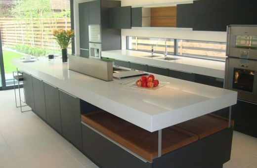 Misty carrera quartz countertops at marblecitycompany for Cost of caesarstone countertops
