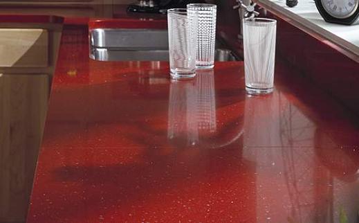 Indus Red - Zodiaq Quartz Countertops - Bay Area California