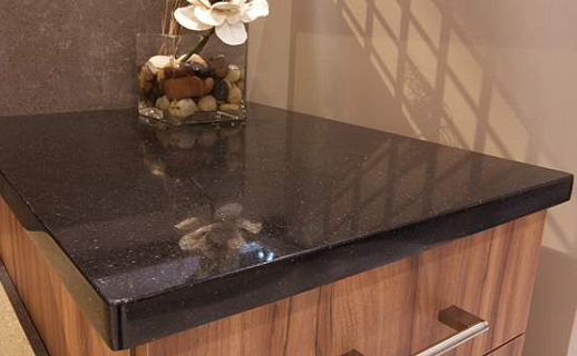 Mystic Black - Quartz Countertops - Bay Area, California