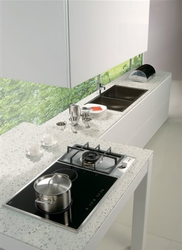 Charmant Sparkling White   MSI Quartz Countertops   San Francisco