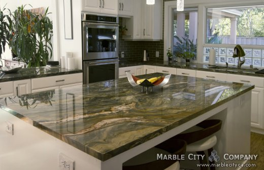 Fire Fusion Quartzite Countertops Bay Area