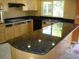 Volga Blue - Granite Kitchen Countertops - Bay Area, California