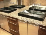 Alehouse Amber Vetrazzo Countertops in Bay Area, California