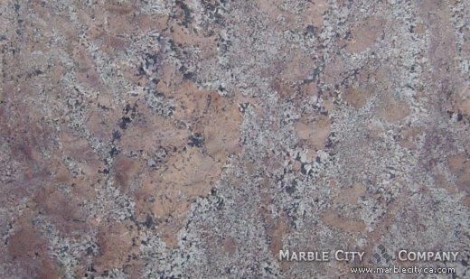 Bordeaux Fuji - Granite Countertops San Francisco, California. Close up view — Close Up View
