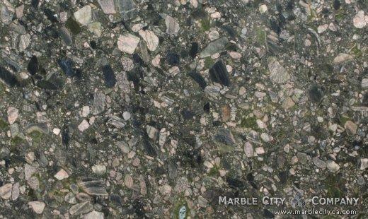 Green Marinace - Granite Countertops San Jose, California. Close up view — Close Up View