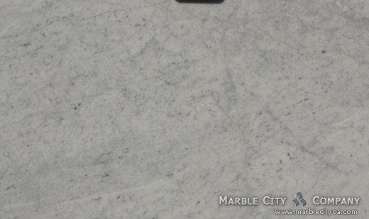 Bianco Carrara Honed - Marble Countertops San Francisco, California. Close up view — Close Up View